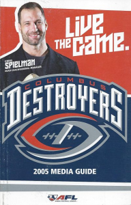 2005 Columbus Destroyers Media Guide