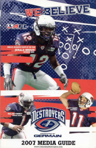 Columbus Destroyers Media Guide
