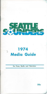 1974 Seattle Sounders Media Guide