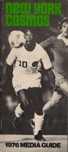 1976 New York Cosmos Media Guide