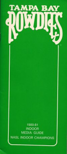 1980-81 Tampa Bay Rowdies Media Guide