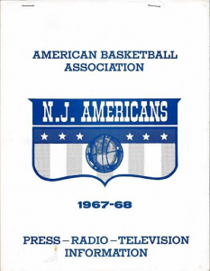 1967-68 New Jersey Americans Media Guide