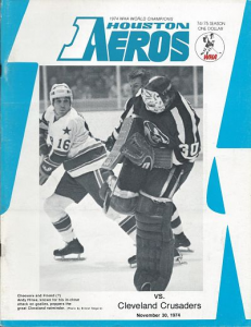 Gerry Cheevers Cleveland Crusaders