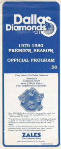 Dallas Diamonds Program