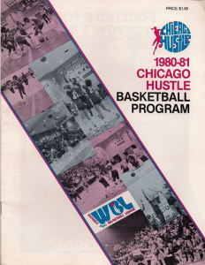 1980-81 Chicago Hustle Program