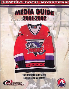2001-02 Lowell Lock Monsters
