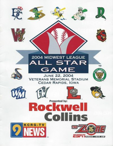 2004 Midwest League All-Star Game Program