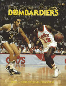 1986 Bay State Bombardiers Program