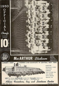 1950 Syracuse Chiefs Program