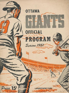 1951 Ottawa Giants Program