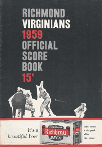 1959 Richmond Virginians Program