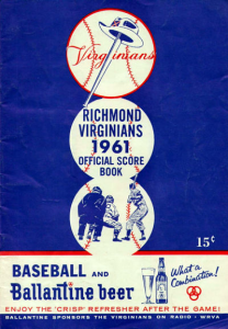 1961 Richmond Virginians Program