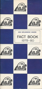 1979-80 New Brunswick Hawks Media Guide