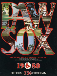 1980 Pawtucket Red Sox Program