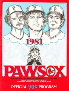 1981 Pawtucket Red Sox Program