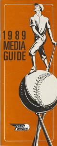 1989 Rochester Red Wings Media Guide