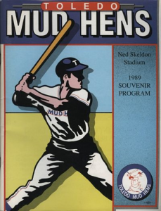 1989 Toledo Mud Hens Program