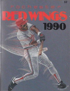1990 Rochester Red Wings Program