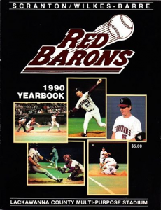 1990 Scranton Wilkes-Barre Red Barons Yearbook