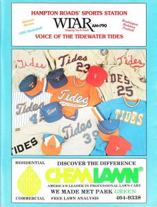 1990 Tidewater Tides Program