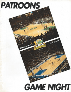 1991-92 Albany Patroons Program