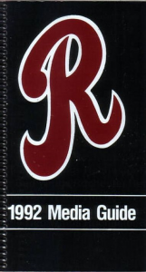 1992 Rochester Red Wings Media Guide