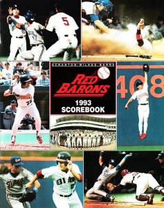 1993 Scranton Wilkes-Barre Barons Program
