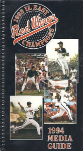 1994 Rochester Red Wings Media Guide