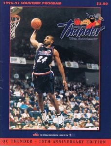 1996-97 Quad City Thunder Program