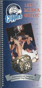 1997 Columbus Clippers Media Guide
