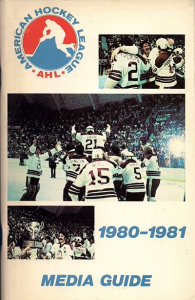 1980-81 American Hockey League Media Guide