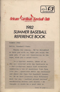 1982 Orleans Cardinals Media Guide