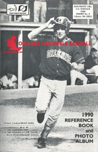 1990 Orleans Cardinals Media Guide