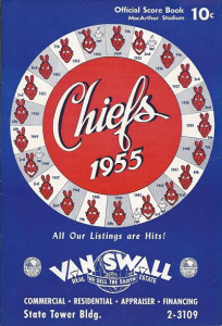 1955 Syracuse Chiefs Program