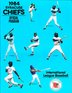 1984 Syracuse Chiefs Program