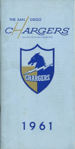 1961 San Diego Chargers Media Guide