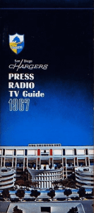 1967 San Diego Chargers Media Guide