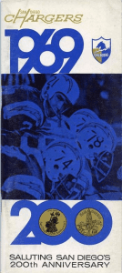 1969 San Diego Chargers Media Guide