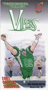 2002 Tennessee Valley Vipers Pocket Schedule