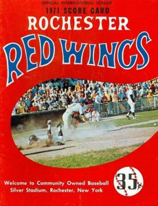 1971 Rochester Red Wings Program