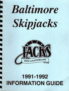 1991-92 Baltimore Skipjacks Media Guide