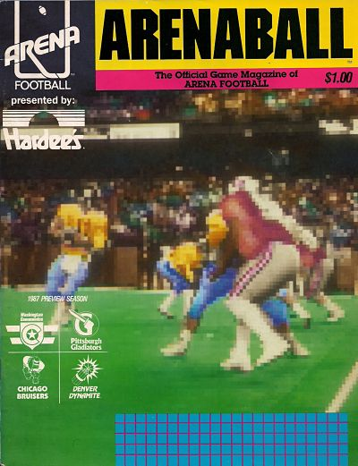 1987 ARENABALL Magazine – Gladiators vs. Dynamite