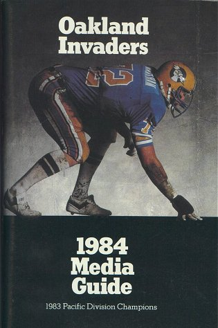 1984 Oakland Invaders Media Guide