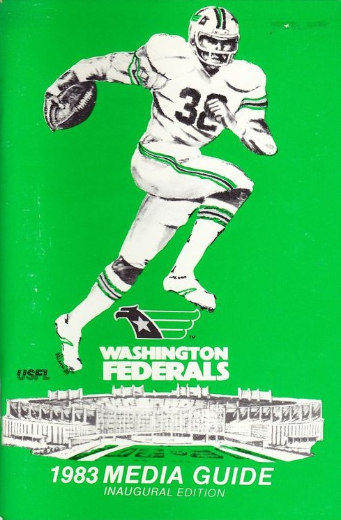 1983 Washington Federals Media Guide