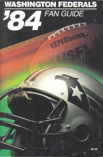 1984 Washington Federals Media Guide