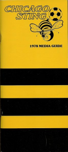 1978 Chicago Sting Media Guide