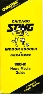 1980-81 Chicago Sting Indoor Media Guide