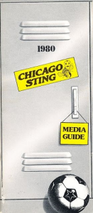 1980 Chicago Sting Media Guide