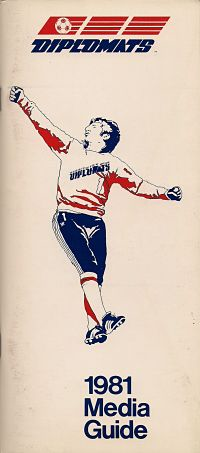 1981 Washington Diplomats Media Guide