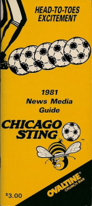 1981 Chicago Sting Media Guide